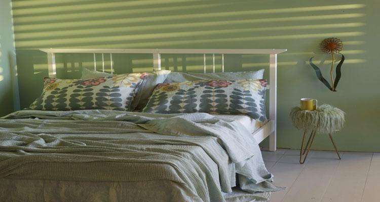 Couleur pastel pour la chambre linge de lit vert tendre for Society linge de maison