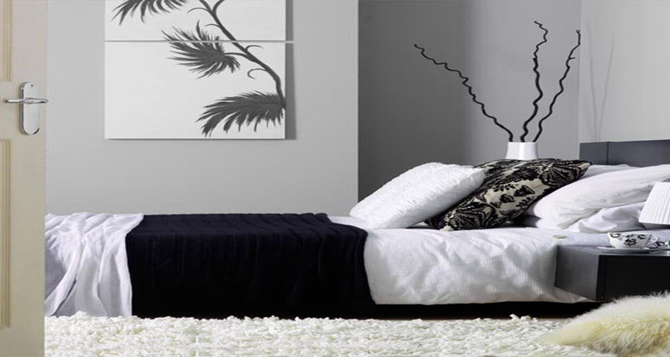 d co chambre noir et blanc et gris id es chic deco cool. Black Bedroom Furniture Sets. Home Design Ideas