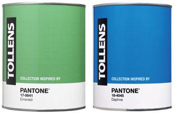 pantone Emerald et pantone Daphné, les deux nouvelles couleurs de peinture tendance par Tollens en 2013