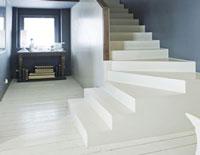 peinture sur carrelage sol parquet et beton farrow & ball couleur blanc