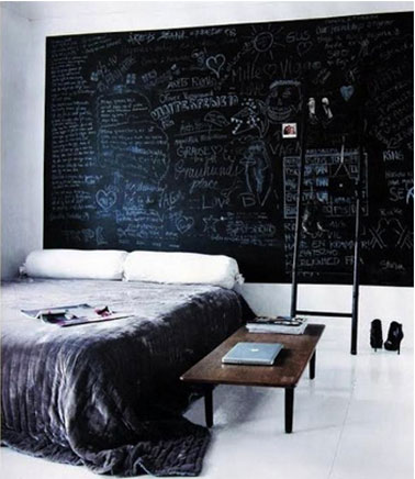 d coration de la maison peinture mur tableau noir. Black Bedroom Furniture Sets. Home Design Ideas