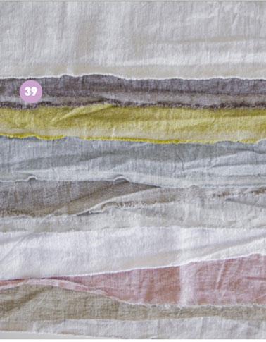 Couleur rideaux chambre.Tissu 100% lin dans des tons pastel pour confection rideaux ou ciel de lit