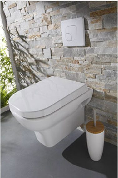 D co wc design avec cuvette wc suspendu d co cool for Comment carreler un mur