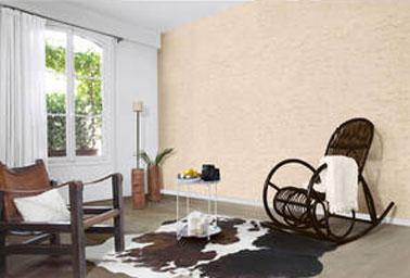 D co salon ambiance naturelle avec enduit d coratif couleur lin - Idee deco salon ambiance zen ...