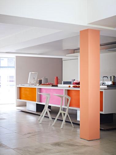 peinture cuisine couleur mur marron glace cuisine bain. Black Bedroom Furniture Sets. Home Design Ideas