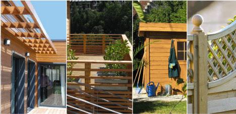 traitement des bois exterieur avec Protect Activ extérieur de V33 Nuancier 9 teintes disponible. Application sans ponçage en deux couches