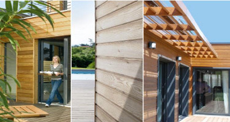impregnant protect-activ de v33 pour protection bois volet, pool house, bardage, pergola bois