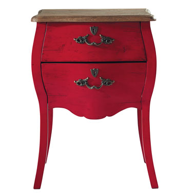 Chevet haute couture rouge maison du monde - Maison du monde table chevet ...