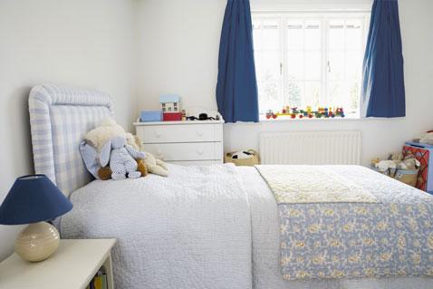 25 couleurs de chambre enfant avec une peinture bio d co - Rideau chambre garcon bleu ...