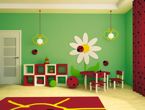 Awesome Chambre Vert Jaune Rouge Images - House Design - marcomilone.com