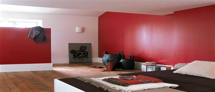 d co couleur rouge peinture et id e d coration par pi ces. Black Bedroom Furniture Sets. Home Design Ideas