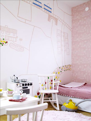 7 d co murales pour chambre enfant faire soi m me. Black Bedroom Furniture Sets. Home Design Ideas