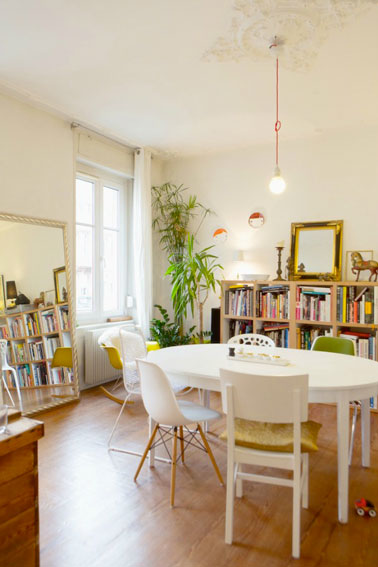 Deco salle a manger appartement haussmannien for Decoration salon salle a manger appartement