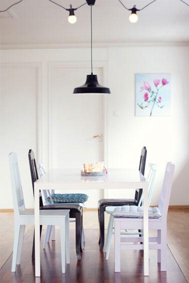 Deco salle a manger noir blanc for Deco salle a manger noir et blanc
