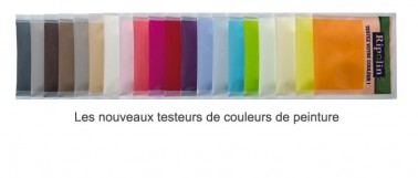 Nuancier peinture 78 teintes échantillon pour test couleur de la gamme de peinture acrylique Attitude Ripolin