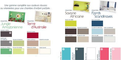 Nuancier peinture bio collection Ile du pacifique de Bondex. 25 couleurs