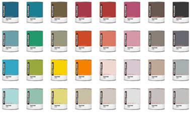 Nuancier tollens 40 couleurs peinture chez castorama for Peintures castorama
