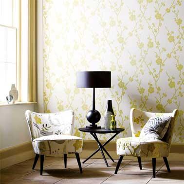 papier peint vintage un style d co que le salon adore. Black Bedroom Furniture Sets. Home Design Ideas
