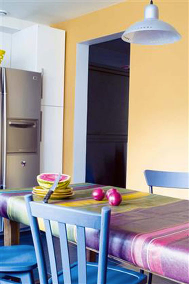 Couleur peinture cuisine 10 idees couleurs pour cuisine tendance for Peinture cuisine tollens