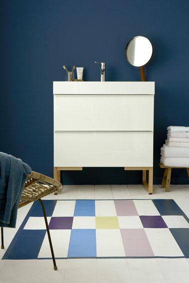 Peindre du carrelage sol dans la salle de bain i deco cool for Peinture direct carrelage