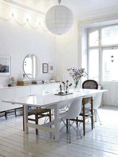 Salle manger moderne salle manger modernes - Chaise blanc d ivoire ...