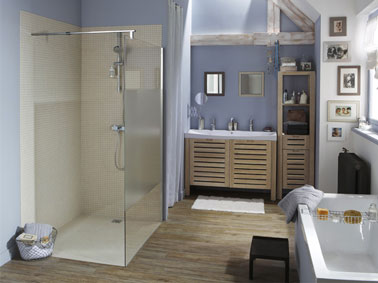 Salle de bain avec receveur douche italienne pret carreler - Douche a l italienne dimension ...