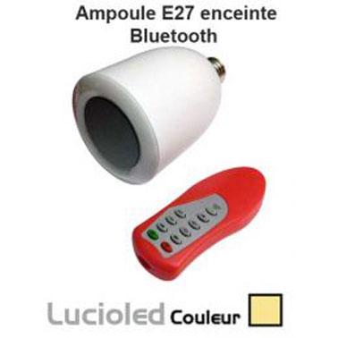 Ampoule Led bluetooth. Commande musique MP3 par télécommande