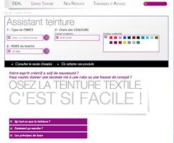 Simulation en ligne pour choisir teinture tissu et couleur selon la teinte de base du textile à teindre
