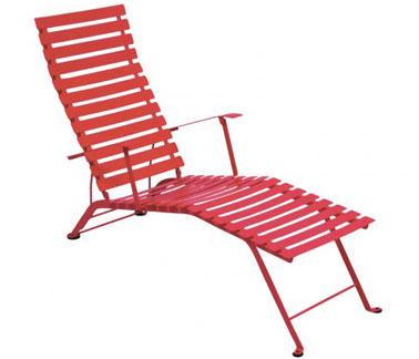 Chaise longue style bistrot en