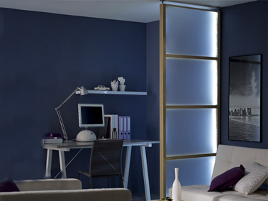 cloison s paration salon bureau en verre fum leroy merlin. Black Bedroom Furniture Sets. Home Design Ideas