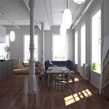 salle manger grise et blanche deux couleurs pour un esprit loft - Salle Manger Laque Bi Couleur