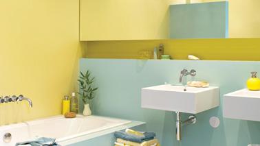 Quelle peinture pour repeindre la salle de bain d co cool for Peinture salle de bain couleur bleu