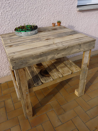 Faire un salon de jardin en palette deco cool - Faire table avec palette ...
