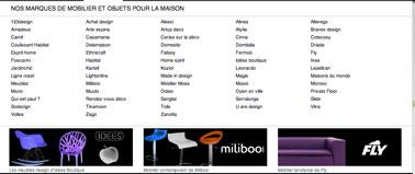 Catalogue meubles des grandes marques du desing du logiciel d'architecture 3D gratuit Insidoo