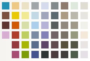 Nuancier peinture accroche tout idestyl 52 couleurs - Les couleurs de la peinture ...