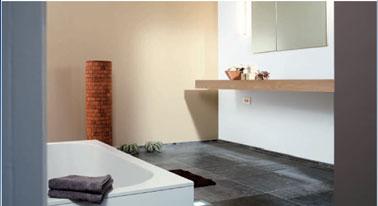 Peinture salle de bain couleur lin gamme el gance - Peinture pour salle de bain humide ...