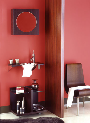 peinture salle de bain couleur rouge cerise elegance astral. Black Bedroom Furniture Sets. Home Design Ideas