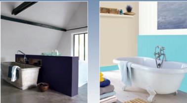 peinture salle de bain couleur violet et bleu astral. Black Bedroom Furniture Sets. Home Design Ideas