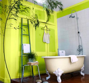 Quelle peinture pour repeindre la salle de bain d co cool - Couleur peinture salle de bain ...