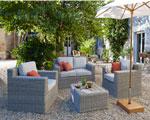 Salon de jardin canape fauteuil rotin castorama for Fauteuil salon de jardin castorama