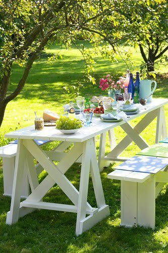 Faire un salon de jardin en palette deco cool for Fabriquer une table de jardin