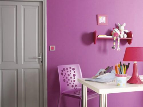 Couleur peinture chambre gris et rose d coration maison for Peinture chambre rose et gris