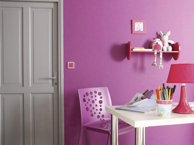 Couleur peinture chambre gris et rose d coration maison for Peinture couleur gris