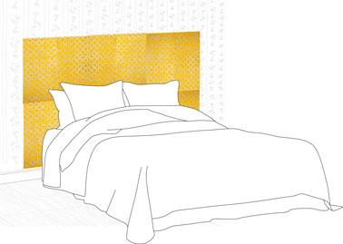 faire un tête de lit facilement avec du papier peint