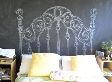 T te de lit originale fabriquer pour sa chambre - Tete de lit baroque pas cher ...
