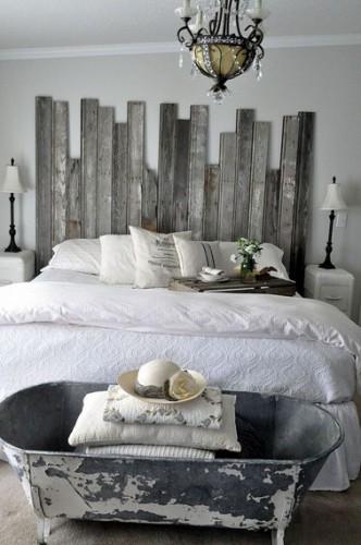 T te de lit originale fabriquer pour sa chambre - Faire une etagere avec des planches ...