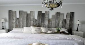 idée déco chambre et DIY pour fabriquer une tete de lit en bois originale