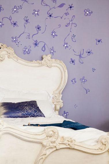 D co rose et violet dans salon et chambre des couleurs pop - Peinture couleur lavande ...