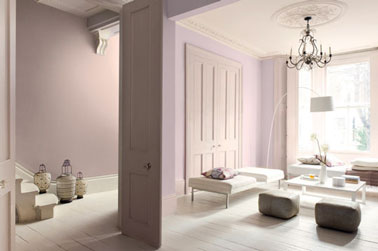 peinture salon nuance rose glycine rose poudre. Black Bedroom Furniture Sets. Home Design Ideas