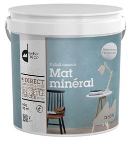 Enduit minéral effet nuancé, disponible en 9 couleurs naturelles, conditionnement : pot de 6kg.